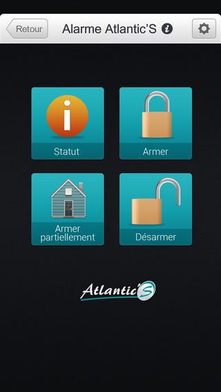 Appli iPhone alarme Atlantic'S