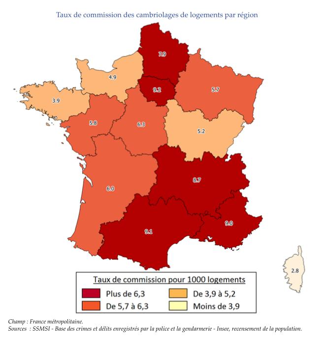 carte statistiques cambriolage 2016