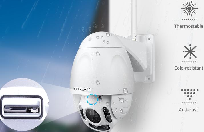 Foscam FI9928P, une caméra PTZ extérieure parfaitement étanche
