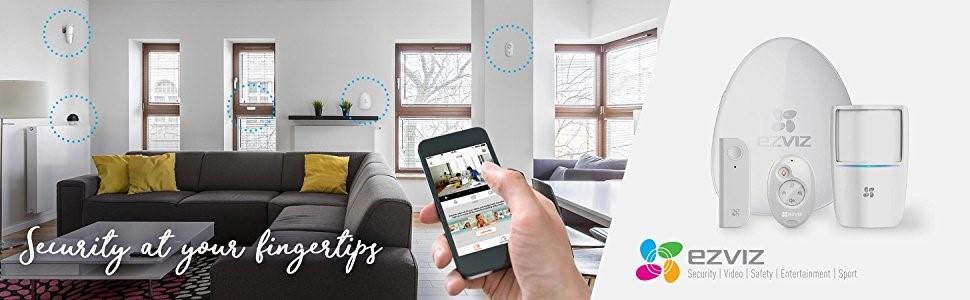 Ezviz : système de sécurité complet : caméra de surveillance et alarme