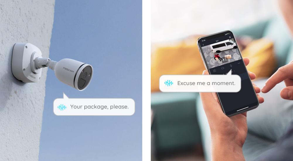 Caméra audio bidirectionnel S41 et F41